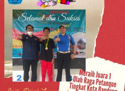 Aqil Rijal Suwondo Atlet Sekaligus Siswa SMP Plus Al-Ghifari Juara 1 Olah Raga Petanque Tingkat Kota Bandung dan Maju ke Tingkat Provinsi Jabar