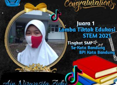 Siswi SMP Plus Al-Ghifari Juara 1 Lomba TikTok Edukasi Tingkat Kota Bandung